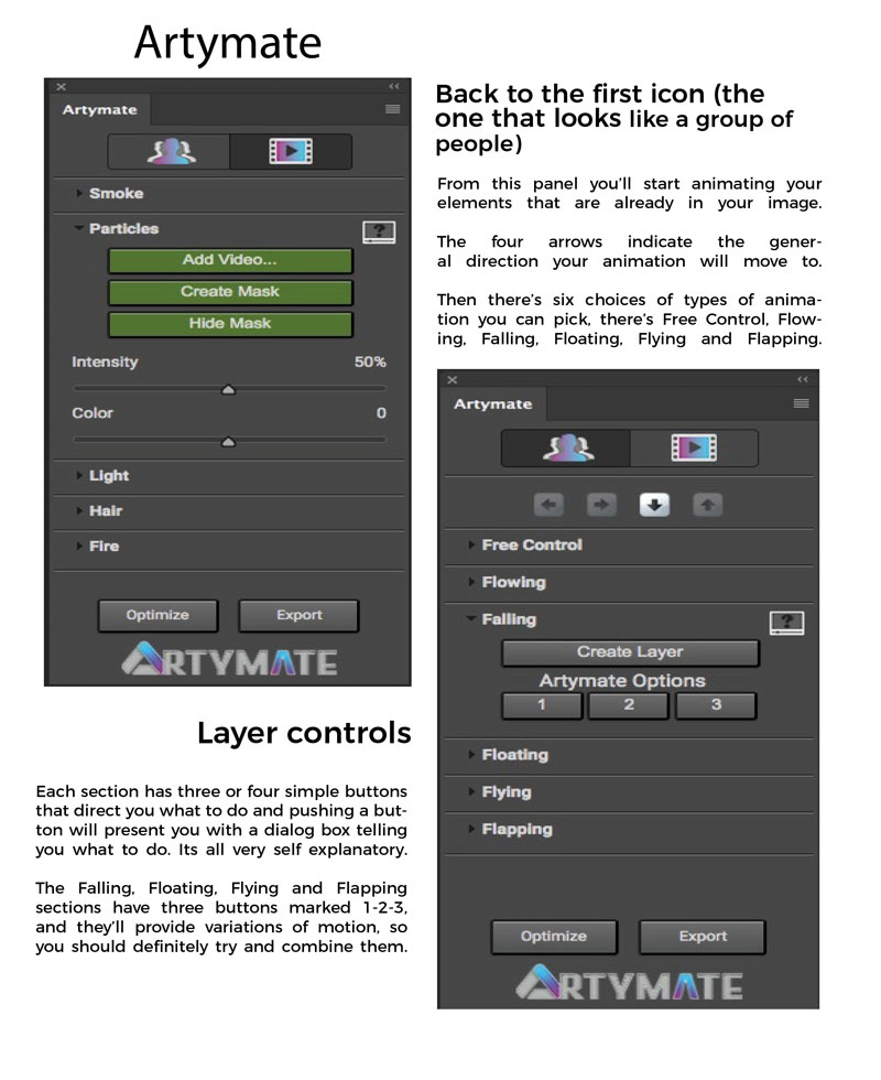 Animate still photography in Photoshop with Artymate, first